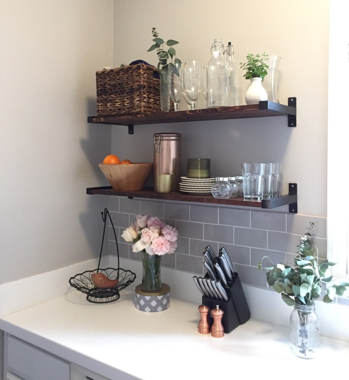 DIY Farmhouse Shelves, Ikea Hack